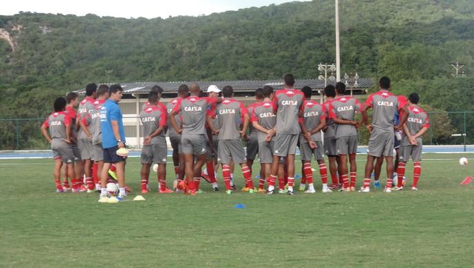 América-RN - treino - UFRN (Foto: Carlos Cruz/GloboEsporte.com)