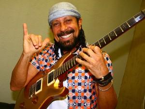 Bell Marques, antes do show  do Chiclete com Banana (Foto: Maurício Vieira/G1)