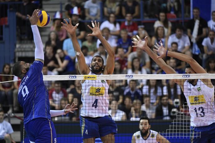 Brasil x França vôlei - Liga Mundial (Foto: Divulgação/FIVB)