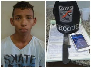 Suspeito de roubo foi espancado pela população antes da chegada do Gtam (Foto: Marcelo Marques/ G1 RR)