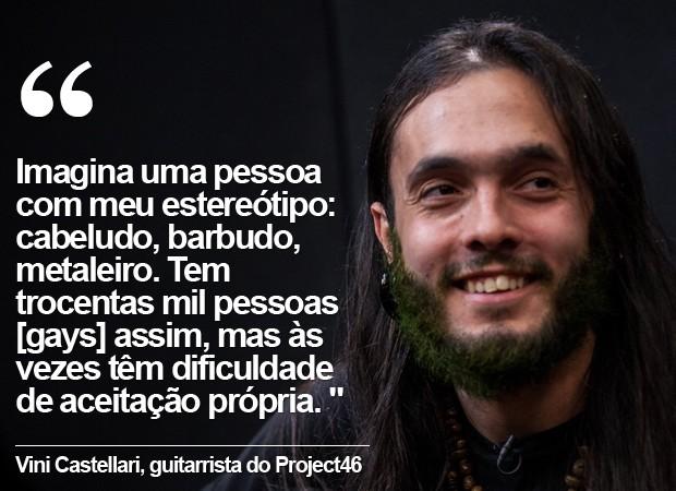 Vini Castellari, guitarrista do Project46 (Foto: Marcelo Brandt / G1)