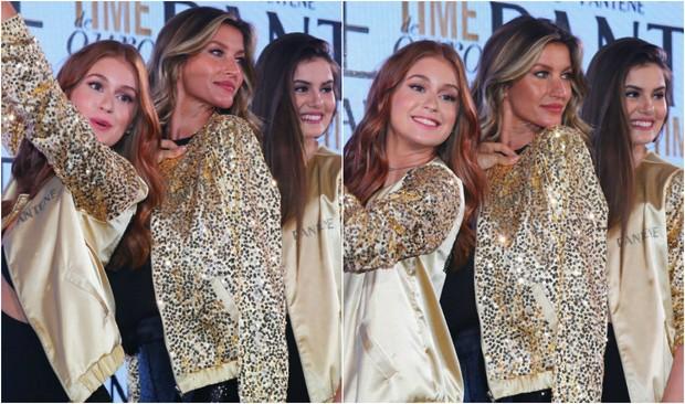 Marina Ruy Barbosa, Gisele Bündchen e Camila Queiroz em evento de beleza no Rio, neste sábado, 6 (Foto: Marcelo Sá Barretto/Agnews)