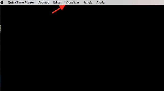 Acessando as opções de visualização para um vídeo no Quicktime do Mac OS (Foto: Reprodução/Marvin Costa)