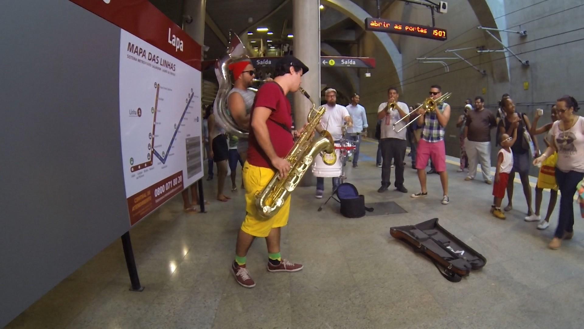 O metrô de Salvador é um dos locais públicos escolhidos pelos artistas (Foto: Divulgação)