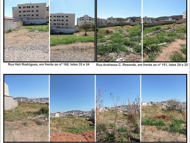 Mosaico mostra terrenos que serão leiloados (Foto: PMI/Divulgação)