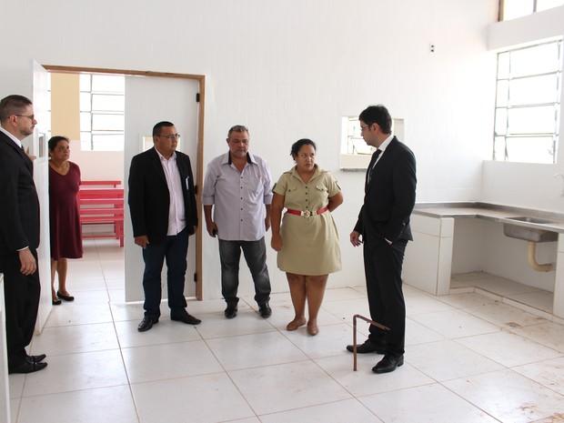 Vistoria foi feita nesta quarta-feira, 5, pelo MP-RO e TJ-RO (Foto: Junior Freitas/ G1)