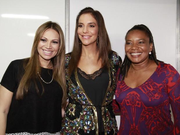 Solange Almeida, Ivete Sangalo e Margareth Menezes em Salvador, na Bahia (Foto: Isac Luz/ EGO)