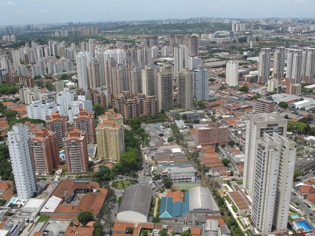Vista da cidade de São Paulo (Foto: Paulo Toledo Piza/G1)