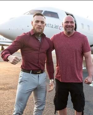Conor McGregor e Dana White Turnê May-Mac (Foto: Reprodução Instagram)