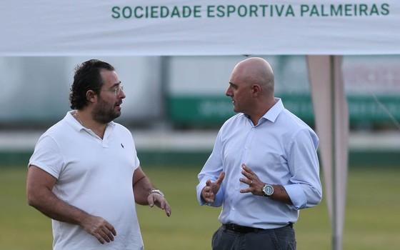Alexandre Mattos, diretor de futebol do Palmeiras, e Maurício Galiotte, presidente do clube (Foto: Divulgação)