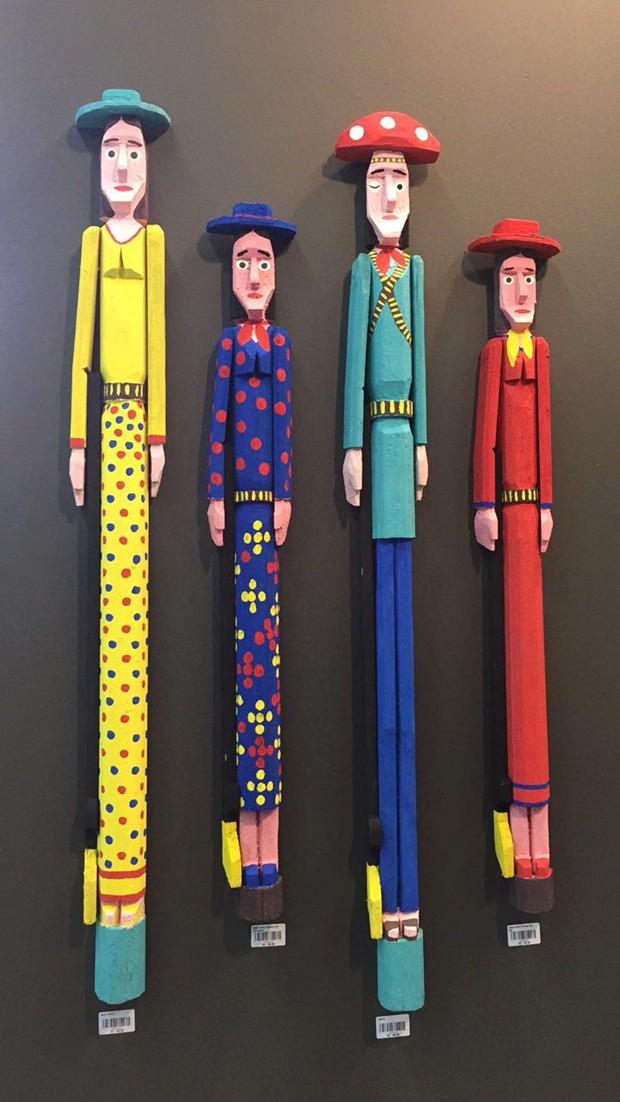 O artista pernambucano Jeovah dos Santos está presente na Marco500 com peças de buriti (Foto: Casa e Jardim)