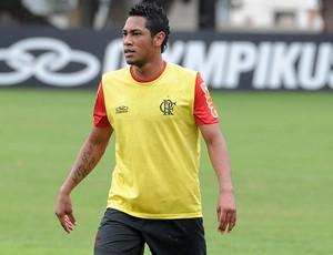 Atacante Hernane - Treino Flamengo (Foto: Alexandre Vidal / Fla Imagem)