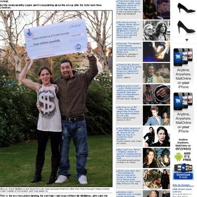 Casal pediu para amigo comprar raspadinha, mas ele comprou um bilhete para a EuroMillions (Foto: Reprodução)