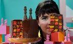 Bolo xadrez de 3 cores e ganache de caramelo salgado