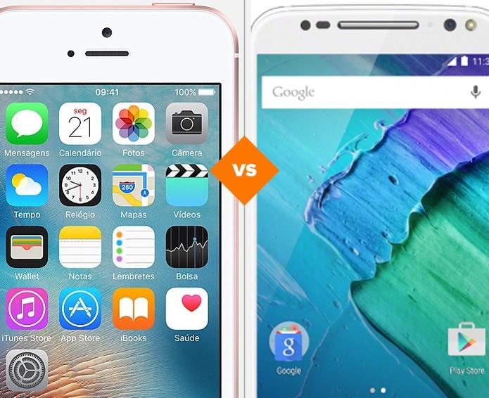Confira o comparativo entre o iPhone SE e o Moto X Style (Foto: Arte/TechTudo)