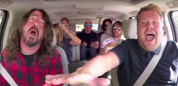 Foo Fighters no quadro Carpool Karaoke (Foto: reprodução)