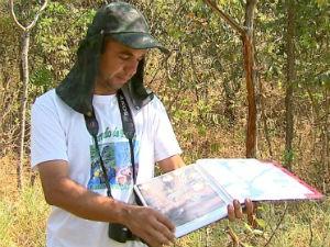 José Luis Moura registra em fotos situação na Cachoeira de Emas (Foto: Reprodução EPTV)