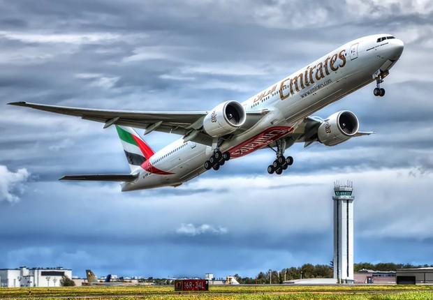 Boeing 777-300ER da Emirates  (Foto: Divulgação)