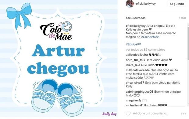 Kelly Key anuncia a chegada do filho Arthur (Foto: Reprodução/Instagram)