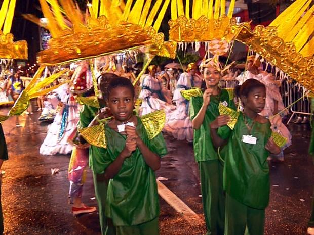 Desfiles de carnaval no centro de Campinas (Foto: Reprodução EPTV)