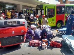Grave acidente deixou uma vítima fatal (Foto: Aniele Brandão/ Tv Clube)