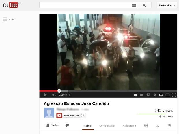 Vídeo mostra momento seguinte à agressão em Belo Horizonte. (Foto: Reprodução / Youtube)