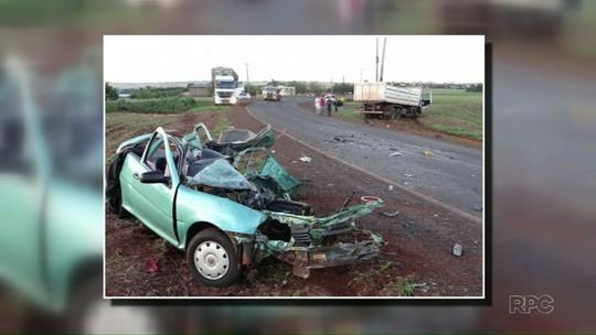 Mulher morre e menor de 15 anos fica ferida em acidente no oeste do Paraná