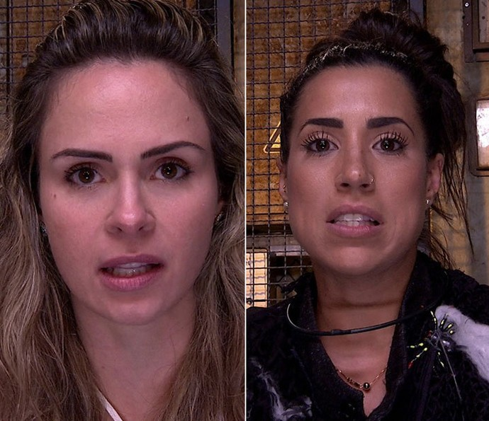 Ana Paula e Juliana defedem permanência no BBB16 (Foto: TV Globo)