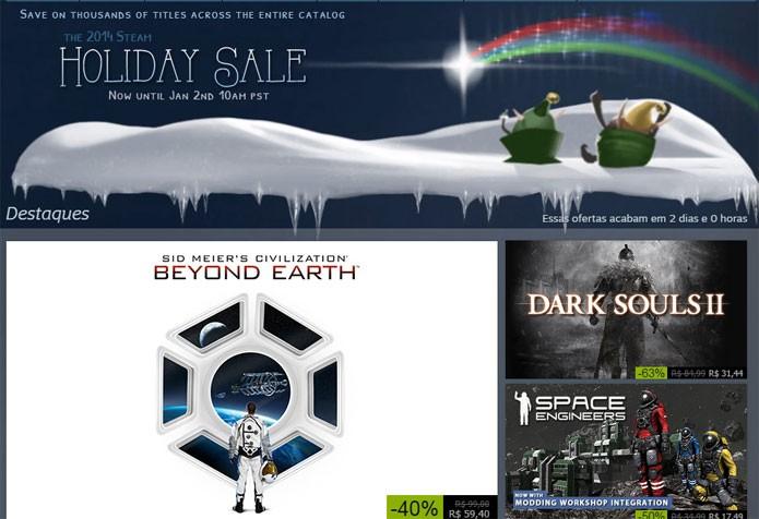 Promoção anual de fim de ano do Steam já começou (Foto: Reprodução/Steam)
