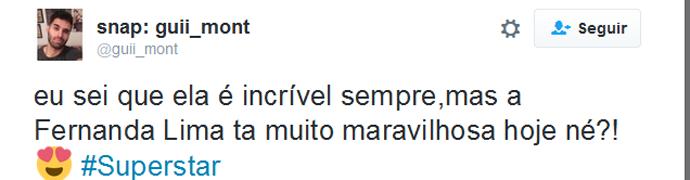 Fernadna Lima Twitter (Foto: Reprodução)
