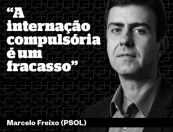 Marcelo Freixo sobre internação compulsória (Foto: Editoria de Arte)