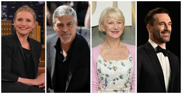 Cameron Diaz, George Clooney, Helen Mirren e Jon Hamm escolheram não ter filhos (Foto: Getty Images)