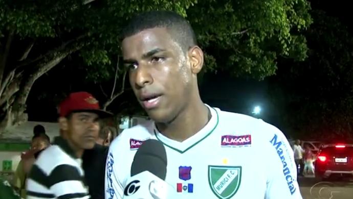Cláudio zagueiro Murici (Foto: Reprodução/TV Gazeta)