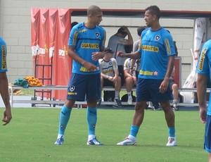 Dória e Antônio Carlos botafogo (Foto: Thales Soares)