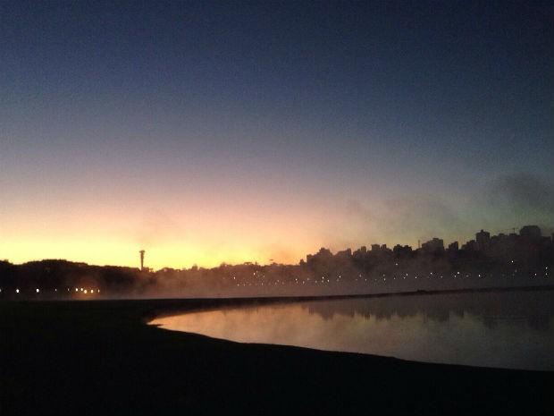 Terça-feira (16) será gelada em todo o Paraná durante todo o dia  (Foto: Cláudia Celli / RPC)