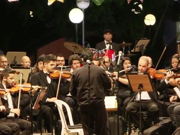Orquestra Jazz Sinfônica faz apresentação em São João da Boa Vista (Foto: Reprodução/EPTV)