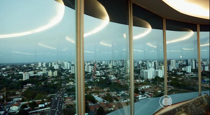 Vista panorâmica de Teresina, no Mirante da Ponte Estaiada (Foto: Reprodução/Rede Clube)