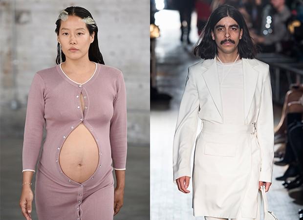 Os casting diversificado da Eckhaus Latta e Helmut Lang, duas das grifes da semana de moda nova-iorquina (Foto: Imaxtree)