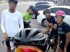 Ciclistas registram momento antes de acidente no Portal da Amazônia