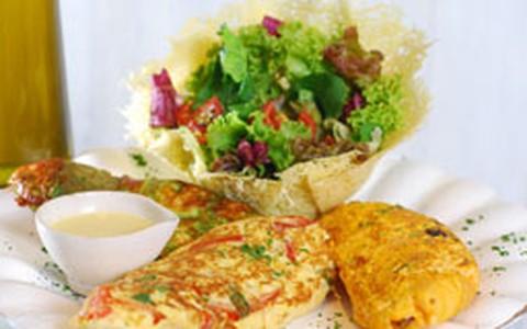 Omelete de vegetais