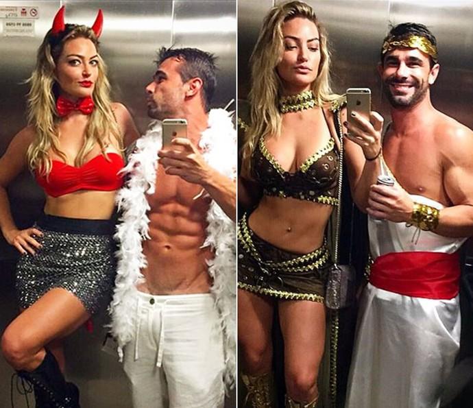 Inseparáveis! Laura Keller e o marido, Jorge, saem fantasiados no Carnaval (Foto: Arquivo Pessoal)