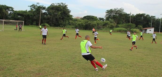 Treino Flamengo-PI 2015 (Foto: Abdias Bideh/GloboEsporte.com)