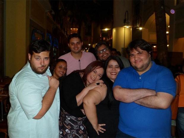 Grupo de gordinhos se reúne no Rio de Janeiro e em São Paulo (Foto: Arquivo Pessoal)