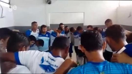 """Presidente motiva time antes de vitória sobre o Fla-PI: """"Vocês são escolhidos"""""""