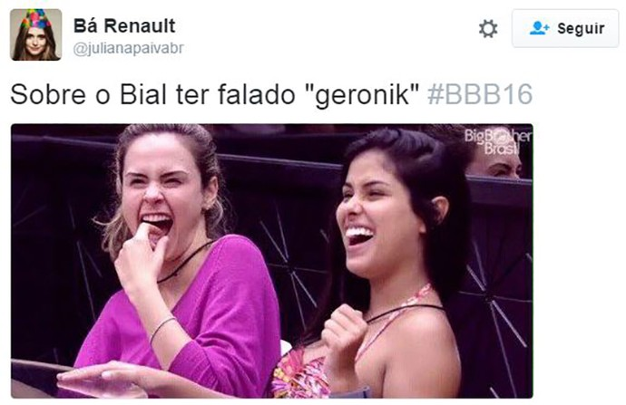 post geronik bbb16 (Foto: web)