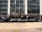 Integrantes da PF protestam em apoio à Operação Lava Jato