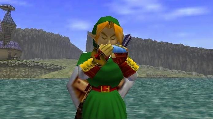 The Legend of Zelda: Ocarina of Time surpreendeu com um dos melhores gráficos do Nintendo 64 e um enorme mundo para explorar (Foto: Reprodução/Fanpop)