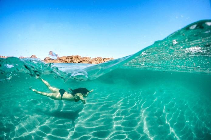 Dome tira fotos com efeito aquário, dentro e fora d'água (Foto: Divulgação/GoDome)
