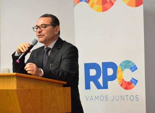 Márcio Vilela durante sua fala (Foto: Priscilla Fiedler/RPC)