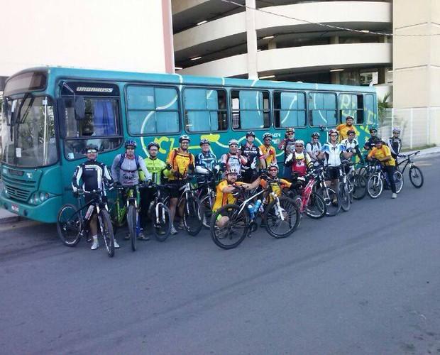 O pessoal do GV Bike no Ponto de Vila Velha participou com o registro (Foto: Divulgação/Arquivo Pessoal)